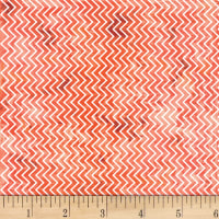 Henry Glass Aint't Life A Hoot Textured Chevron Orange