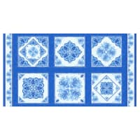 "Henry Glass Blue Dream 24"" Decorative Tile Block Panel Blue"