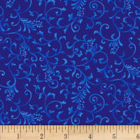 Henry Glass Blue Dream Small Vine Royal Blue