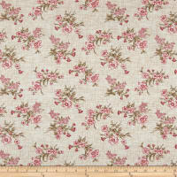 Henry Glass Tickled Pink Vintage Floral Toss Cream