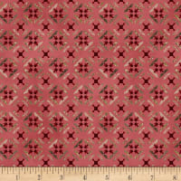 Henry Glass Tickled Pink Tile Flowers Pink