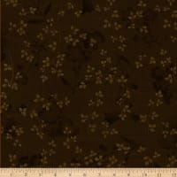 Henry Glass Tickled Pink Floral Silhouette Brown