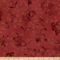 Henry Glass Tickled Pink Floral Silhouette Red