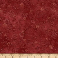 Henry Glass Tickled Pink Lacey Floral Red