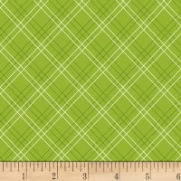 Henry Glass Cutie Tootie Diagonal Plaid Green