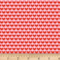 Henry Glass Cutie Tootie Mini Hearts Pink/Red