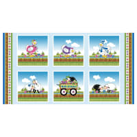 "Henry Glass Knit Chicks 24"" Chicken And Sheep Panel Multi"
