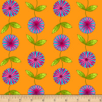 Henry Glass Petals Go Round Stripe Vine Orange