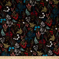 Wildflowers Print Crepe Black/Multi