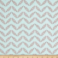 Henry Glass Fresh & Fab Feathered Herringbone Aqua