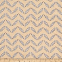 Henry Glass Fresh & Fab Feathered Herringbone Peach