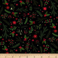 Patrick Lose Studio Santa's Stash Holiday Greenery Black