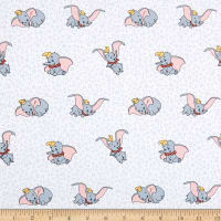 Springs Creative Disney Classic Dumbo Many Faces Of Dumbo White