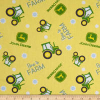 Springs Creative John Deere Nursery Born To Farm Toss Multi