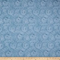 "Maywood Studio 108"" Beautiful Backing Elegant Scroll Blue Eyes"