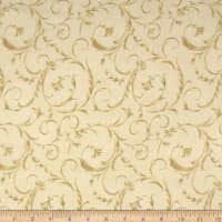 "Maywood Studio 108"" Beautiful Backing Elegant Scroll Sweet Cream"