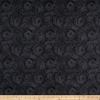 "Maywood Studio 108"" Beautiful Backing Elegant Scroll Soft Black"