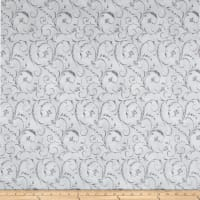 "Maywood Studio 108"" Beautiful Backing Elegant Scroll Stone Gray"