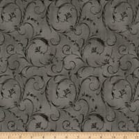 "Maywood Studio 108"" Beautiful Backing Elegant Scroll Dove Gray"