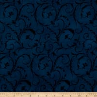 "Maywood Studio 108"" Beautiful Backing Elegant Scroll Midnight Blue"