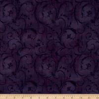 "Maywood Studio 108"" Beautiful Backing Elegant Scroll Rich Purple"