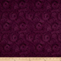 "Maywood Studio 108"" Beautiful Backing Elegant Scroll Plum"