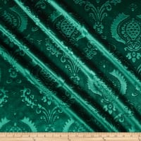 Embossed Velvet Damask Forest