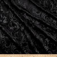 Embossed Velvet Scroll Black