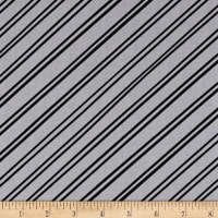 Clothworks Little Super Hero Stripe Gray