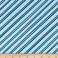 Clothworks Little Super Hero Stripe Aqua