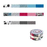 "Clothworks Little Super Hero 2.5"" Strip Rolls 40 Pcs Multi"