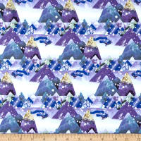Clothworks Winter Love Toile Periwinkle