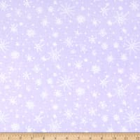 Clothworks Winter Love Snowflakes Light Purple