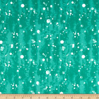 Clothworks Winter Love Dot Teal