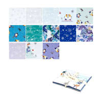 "Clothworks Winter Love 5"" Squares 42 Pcs Multi"