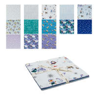 "Clothworks Winter Love 10"" Squares 42 Pcs Multi"
