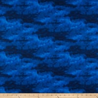 Clothworks Misty Tonal Royal Blue