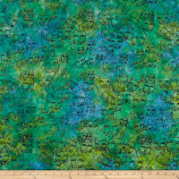 Laurel Burch Batik Menagerie Toss Light Emerald
