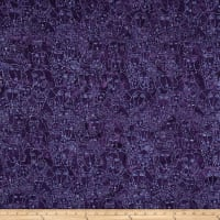 Clothworks Batik Menagerie Dog Toss Dark Purple
