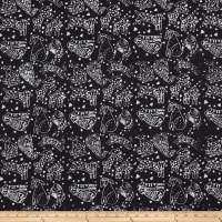 Laurel Burch Batik Menagerie Toss Black