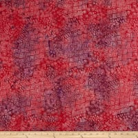 Laurel Burch Batik Menagerie Geo Dark Raspberry