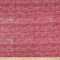 Clothworks Batik Menagerie Stripe Light Raspberry