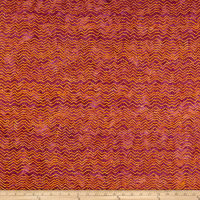 Clothworks Batik Menagerie Stripe Light Fuchsia