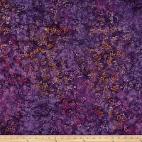 Clothworks Batik Menagerie Toss Purple