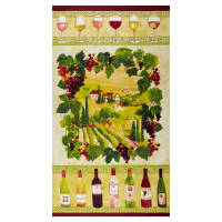 "Clothworks Rhone Valley 24"" Panel Multi"