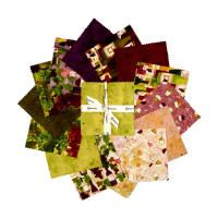 "Clothworks Rhone Valley 5"" Squares 42 Pcs Multi"