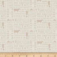 Clothworks Farmhouse Life Collage Light Khaki