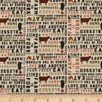 Clothworks Farmhouse Life Collage Multi Color