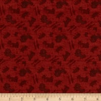 Clothworks Farmhouse Life Toss Dark Red