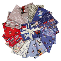Clothworks Playful Pups Fat Quarter Pack 15 Pcs Multi